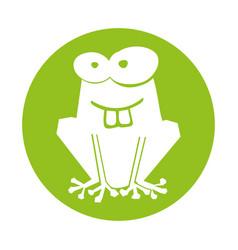 Frog comic character icon vector