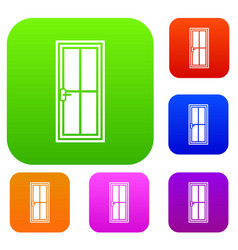 glass door set collection vector image