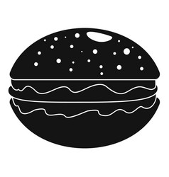 hamburger icon simple style vector image