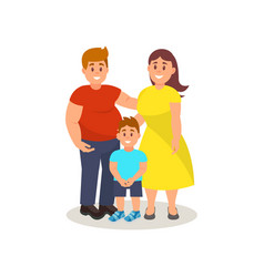happy father mother and son standing together vector image