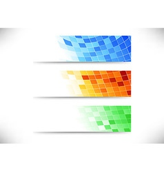 Headers collection - abstract tiles background vector image