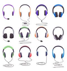 headphones equipment music technology headset vector image