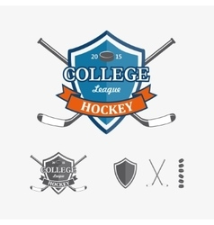 Hockey sports emblems and symbols for team logo vector
