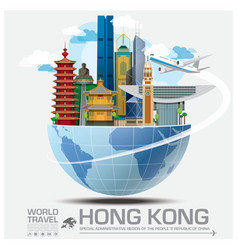 Hong Kong Landmark Global Travel And Journey vector