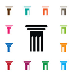 Isolated pillar icon history element can vector
