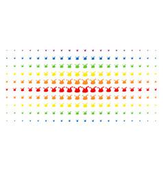 joker hat spectral halftone pattern vector image