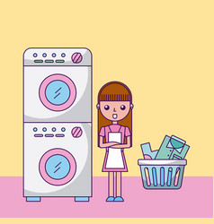 Laundry work clothes vector