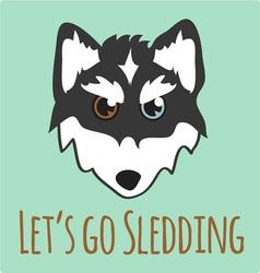 Lets Go Sledding vector