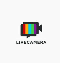 live streaming logo vector image