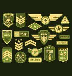 Military badges american army badge patch or vector