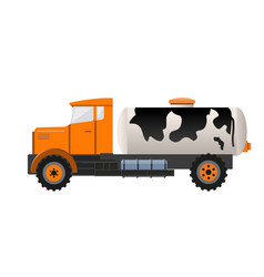 Milk tank truck vector