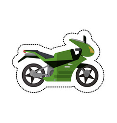 Motorcycle transport style shadow vector