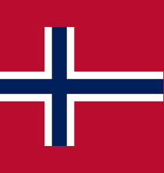 norway flag official proportion correct colors vector image