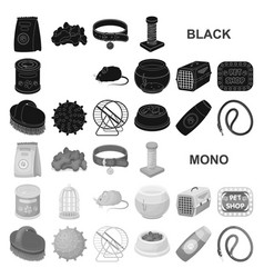 pet shop black icons in set collection for design vector image