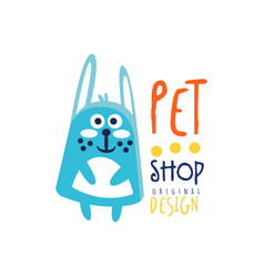 pet shop colorful logo template original design vector image
