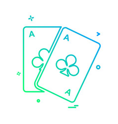 poker icon design vector image