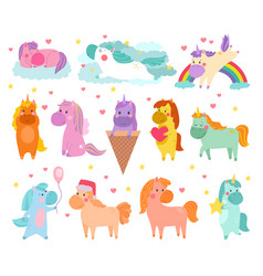 pony cartoon unicorn or baby character of vector image