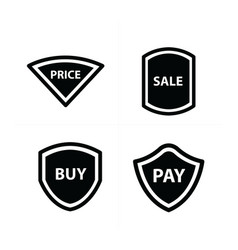 price tags label set plate style vector image