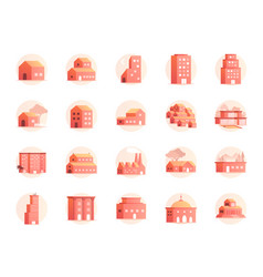 property colors icon set vector image