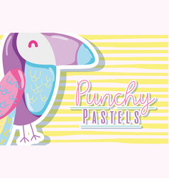 Punchy pastels concept vector