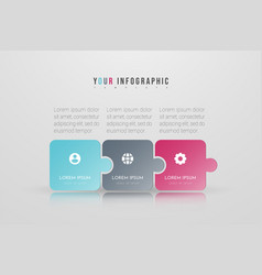Puzzle infographic concept design with 3 options vector
