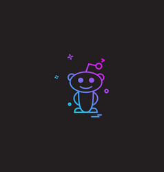 Reddit icon design vector
