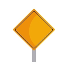 road sign yellow message icon graphic vector image
