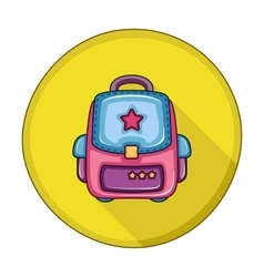School Backpack flat icon vector
