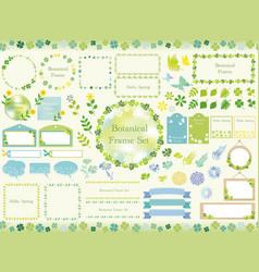 set of assorted botanical frames vector image