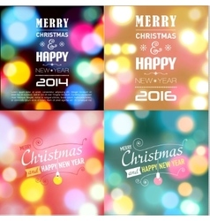 Set of Christmas postcard templates vector image