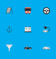 Set of simple shipping icons vector