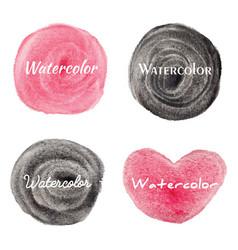 set watercolor hand drawn circles background vector image