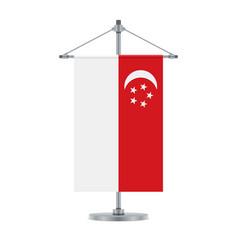 singaporean flag on the metallic cross pole vector image