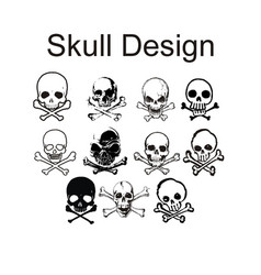 skull sets vector image