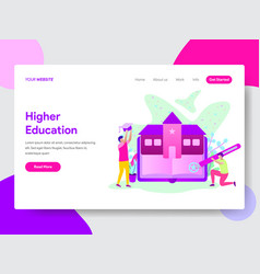 student with university education vector image