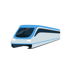 Super streamlined high speed train locomotive vector