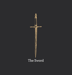 the sword image medieval weapon sketch vector image