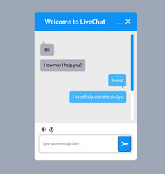 The universal live chat window for web vector