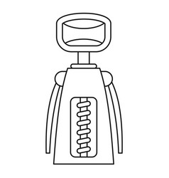 Tool for opening bottles icon outline style vector