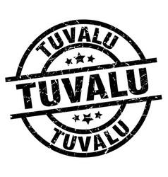 Tuvalu black round grunge stamp vector
