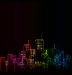 Urban abstract background in rainbow colors vector