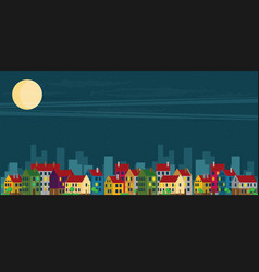 urban landscape night vector image