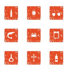 utility icons set grunge style vector image