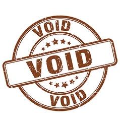 void brown grunge round vintage rubber stamp vector image