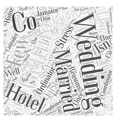 Why Use a Hotel Wedding Co Word Cloud Concept vector image