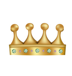 yellow golden crown vector image
