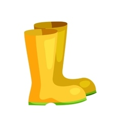 Yellow rubber boots icon cartoon style vector image