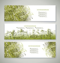 Banners abstract headers with green abstract vector image vector image
