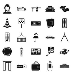 Dispatcher icons set simple style vector
