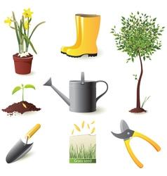 gardening icons set - vector image